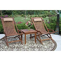 Outdoor Interiors® Eucalyptus Outdoor Furniture Collection