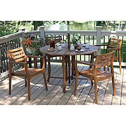 Outdoor Interiors® Eucalyptus Bar Height Patio Dining Collection
