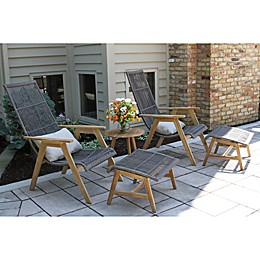 Outdoor Interiors® Teak Patio Table Collection