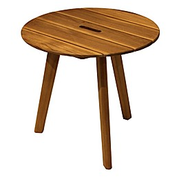 Outdoor Interiors® 20-Inch Round Teak Patio Accent Table