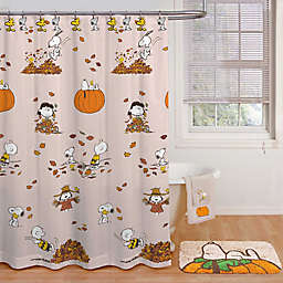 Peanuts™ Harvest 70-Inch x 72-Inch Shower Curtain in Tan with Hooks