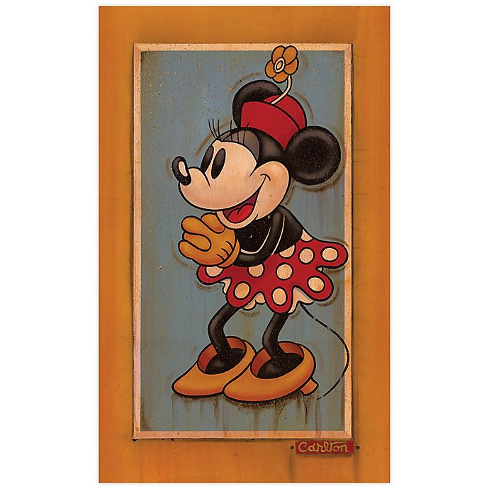 Alternate image 1 for Disney Fine Art Vintage Minnie Wrapped Canvas Wall Art