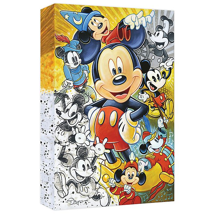 Alternate image 1 for Disney Fine Art 90 Years of Mickey Mouse Wrapped Canvas Wall Art