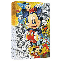 Disney Fine Art 90 Years of Mickey Mouse Wrapped Canvas Wall Art