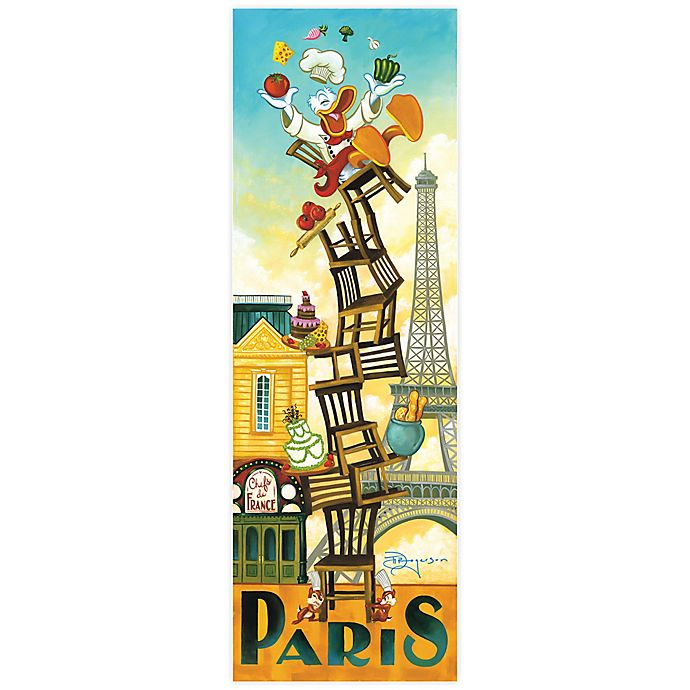 Alternate image 1 for Disney Fine Art Donald's Paris Wrapped Canvas Wall Art