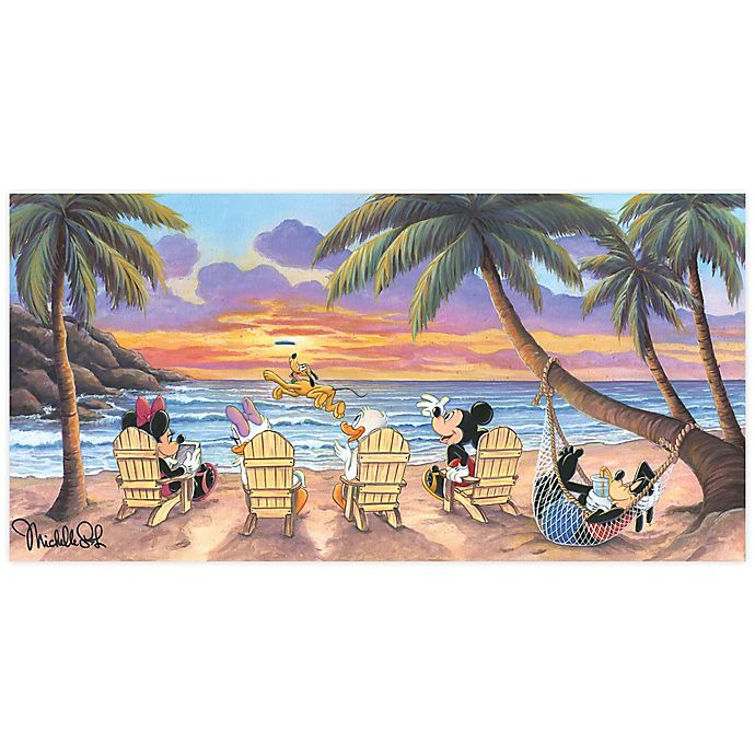 Alternate image 1 for Disney Fine Art Beautiful Day at the Beach Wrapped Canvas Wall Art