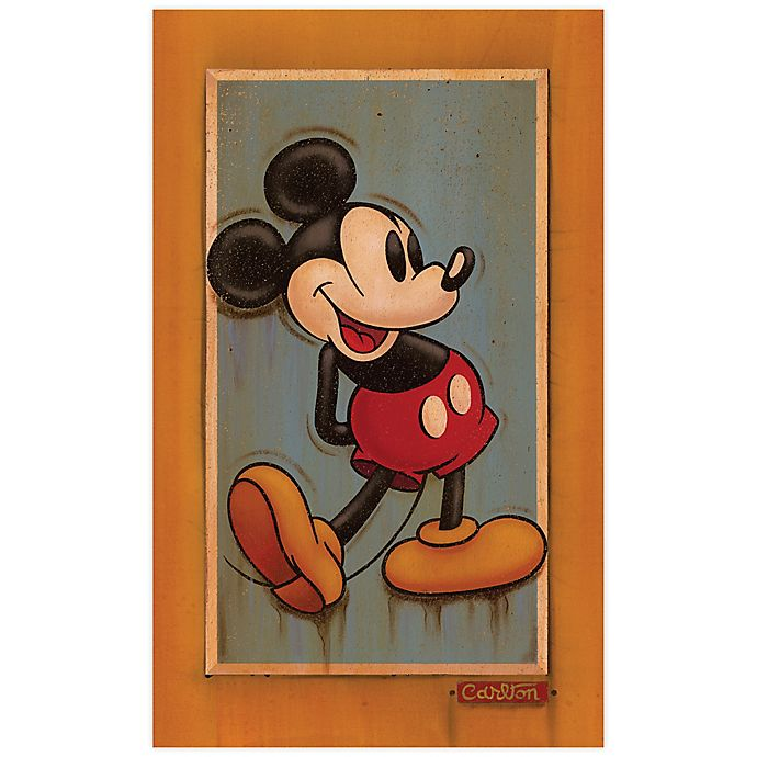 Alternate image 1 for Disney Fine Art Vintage Mickey Wrapped Canvas Wall Art