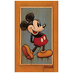 Disney Fine Art Vintage Mickey Wrapped Canvas Wall Art