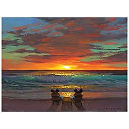 Disney Fine Art Sharing a Sunset Wrapped Canvas Wall Art