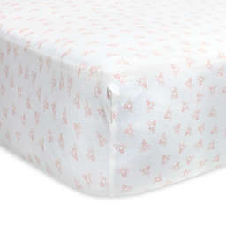 Burt's Bees Baby® Honeybee Organic Cotton Fitted Crib Sheet in Blossom