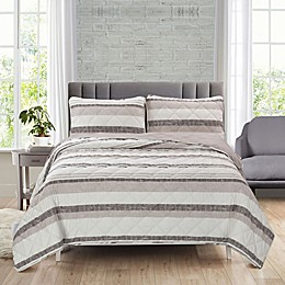 Ellen Tracy Yacht Stripe 3-Piece Reversible Quilt Set