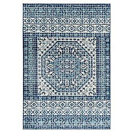 Surya Harput Center Octagon Area Rug in Blue