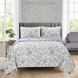 Ellen Tracy Grace Full/Queen 3-Piece Quilt Set in Blue