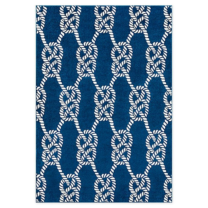 Alternate image 1 for Surya Horizon Knots Rug in Navy