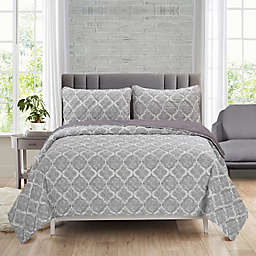 Ellen Tracy Agra 3-Piece Reversible Quilt Set