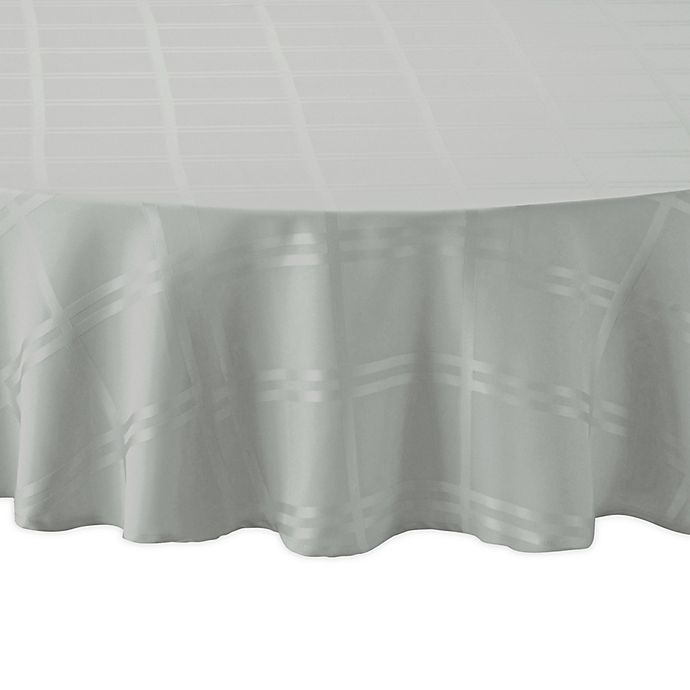 Alternate image 1 for Wamsutta® Solid 90-Inch Round Tablecloth in Fog