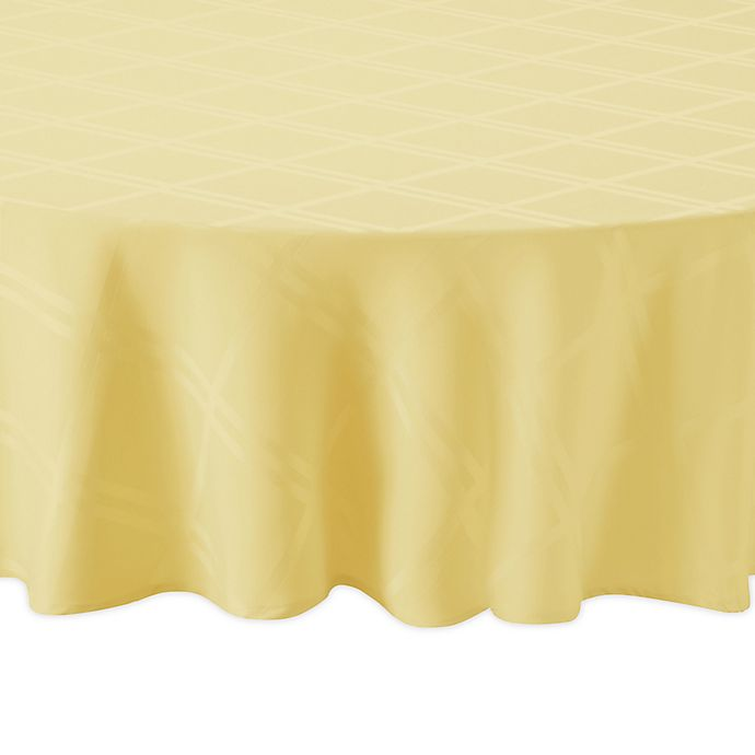 Alternate image 1 for Wamsutta® Solid 90-Inch Round Tablecloth in Canary