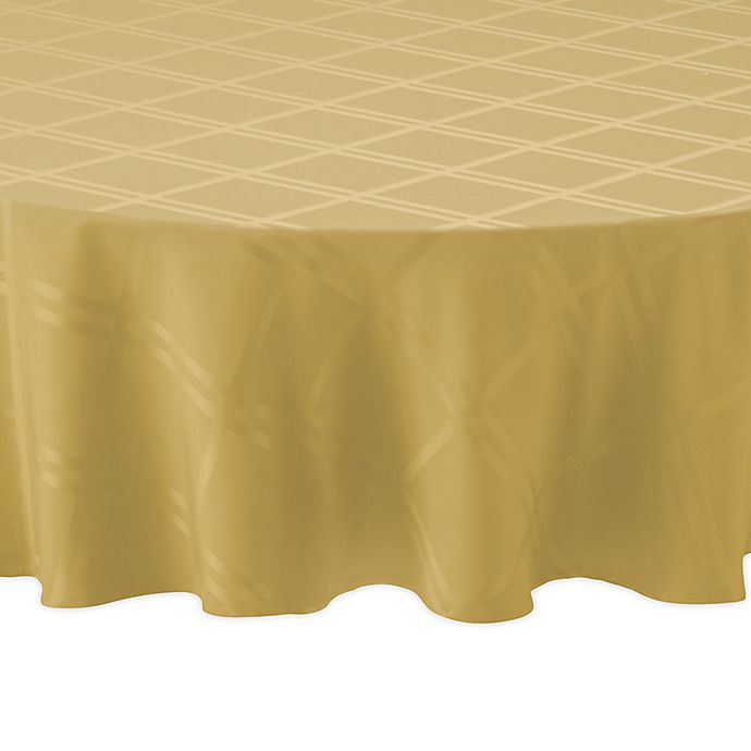 Alternate image 1 for Wamsutta® Solid 90-Inch Round Tablecloth in Golden