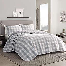 Eddie Bauer® Lakehouse Plaid Quilt Set in Grey