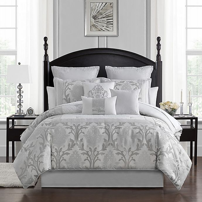Alternate image 1 for Marquis® by Waterford Verina 7-Piece King Comforter Set in Silver