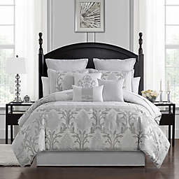 Marquis® by Waterford Verina 7-Piece Queen Comforter Set in Silver