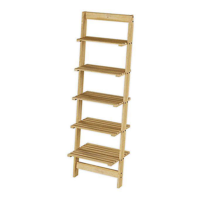 Alternate image 1 for Hastings Home 5-Shelf Ladder Bookshelf in Oak