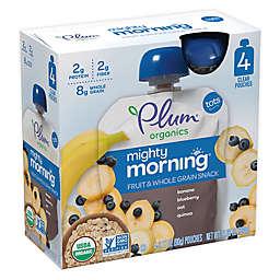 Plum Organics™ 4-Pack 3 oz. Mighty Morning™ Banana, Blueberry, Oat & Quinoa Pouch
