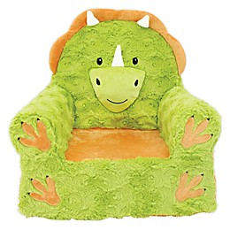 Sweet Seats® Soft Foam Triceratops Chair in Green