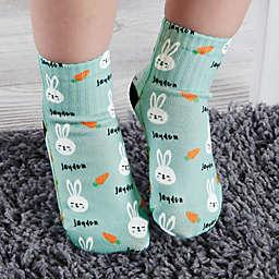 Bunny Treats Personalized Toddler Socks