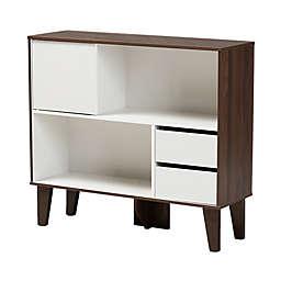Baxton Studio® Essie Bookcase in White/Walnut