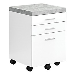 Monarch Specialties 3-Drawer Filing Cabinet with Casters