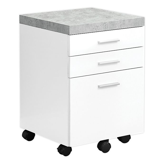 Alternate image 1 for Monarch Specialties 3-Drawer Filing Cabinet with Casters