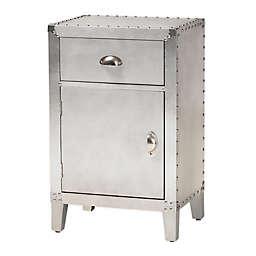 Baxton Studio® Pacho Storage Cabinet in Silver