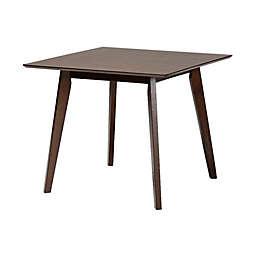 Baxton Studio Leo Square Dining Table in Walnut
