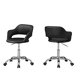 Monarch Specialties Hydraulic Lift Base Office Chair in Black/Chrome