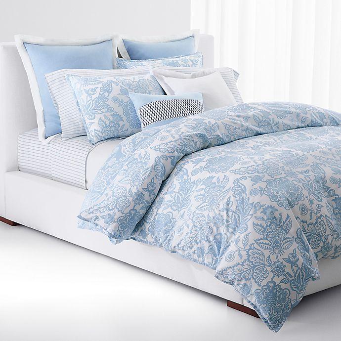 Alternate image 1 for Lauren Ralph Lauren Joanna Floral 3-Piece Reversible Comforter Set in Aqua/White