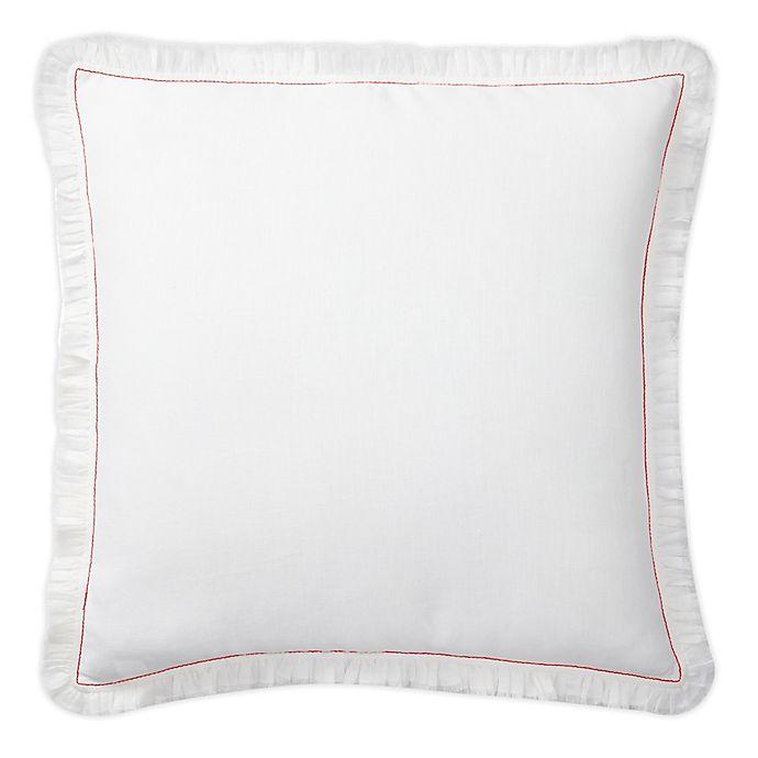 Alternate image 1 for Lauren Ralph Lauren Maggie Square Throw Pillow in White