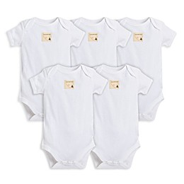 Burt's Bees Baby® 5-Pack Organic Cotton Short Sleeve Bodysuit in Cloud