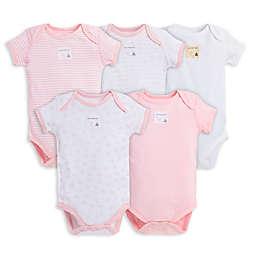 Burt's Bees Baby™ 5-Pack Organic Cotton Short-Sleeve Bodysuit in Pink
