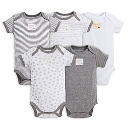Burt's Bees Baby® 5-Pack Organic Cotton Short Sleeve Bodysuit in Mixed Grey
