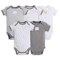 Burt's Bees Baby™ 5-Pack Organic Cotton Short-Sleeve Bodysuit in Heather Grey