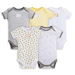 Burt's Bees Baby® 5-Pack Sunshine Organic Cotton Short Sleeve Bodysuits in Yellow