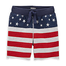 OshKosh B'gosh® American Flag Knit Short in Red/White/Blue