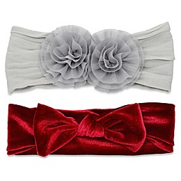 Khristie® 2-Pack Double Flower and Bow Headbands