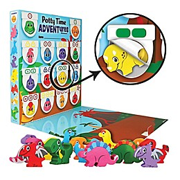 Lil ADVENTS Potty Time ADVENTures Potty Training Reward Chart & Wood Blocks Dinosaurs