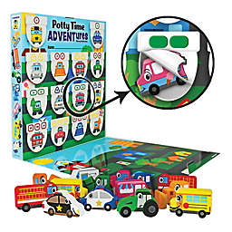 Lil ADVENTS Potty Time ADVENTures Potty Training Reward Chart & Wood Blocks Busy Vehicles