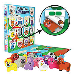 Lil ADVENTS Potty Time ADVENTures Potty Training Reward Chart & Wood Blocks Farm Animals