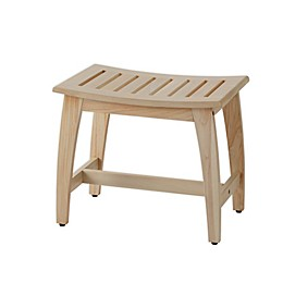 Haven™ Teak Wood Stool in Whitewash
