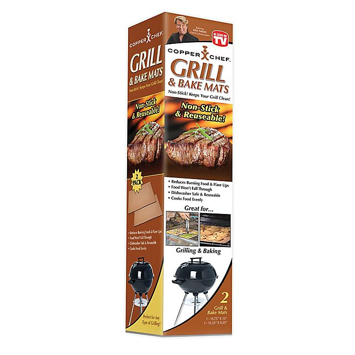 Alternate image 1 for Copper Chef™ Nonstick Grill Mat (Set of 2)