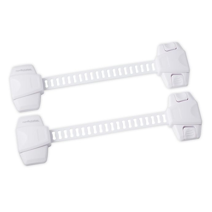 Alternate image 1 for Toddleroo by North States® 2-Pack Adjustable Strap Locks in White